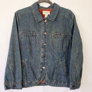 🌹Out of the Blue J Jill Denim Jacket Large Petite
